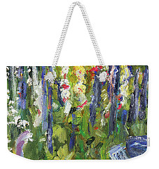 Hollyhocks, After Morisot Weekender Tote Bag