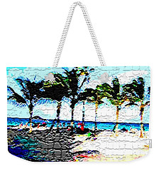 Hollywood Beach Fla Digital Weekender Tote Bag by Dick Sauer