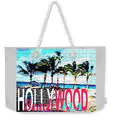 Hollywood Beach Fla Poster Weekender Tote Bag by Dick Sauer