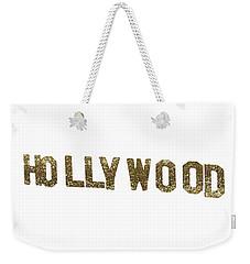 Hollywood Gold Glitter Sign Weekender Tote Bag