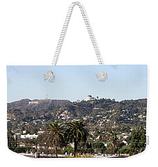 Hollywood Hills From Sunset Blvd Weekender Tote Bag