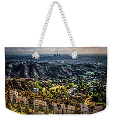 Behind The Sign Weekender Tote Bag by April Reppucci