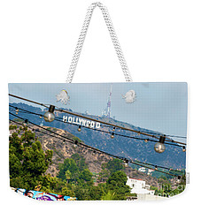 Weekender Tote Bag featuring the photograph Hollywood Sign On The Hill 1 by Micah May