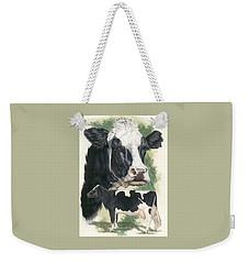 Holstein Weekender Tote Bag by Barbara Keith