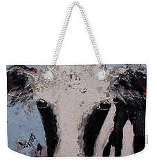 Holstein Cow Painting Farm House Wall Art Cow Art Weekender Tote Bag