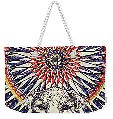 Weekender Tote Bag featuring the painting Holy Dog by Kym Nicolas