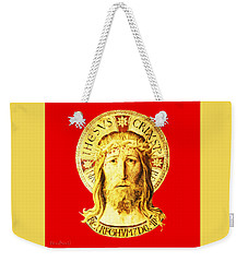 Holy Face Weekender Tote Bag by Asok Mukhopadhyay