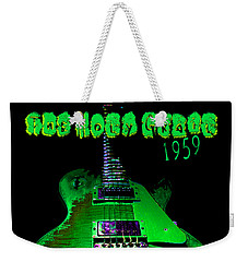 Weekender Tote Bag featuring the photograph Holy Grail 1959 Retro Relic Guitar by Guitar Wacky