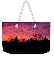 Weekender Tote Bag featuring the photograph Holy Hill - Gloom To Color by Janice Adomeit