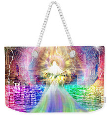 Weekender Tote Bag featuring the digital art Holy Holy Holy by Dolores Develde