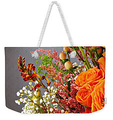 Weekender Tote Bag featuring the photograph Holy Week Flowers 2017 2 by Sarah Loft