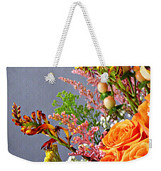 Weekender Tote Bag featuring the photograph Holy Week Flowers 2017 3 by Sarah Loft