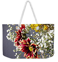 Weekender Tote Bag featuring the photograph Holy Week Flowers 2017 5 by Sarah Loft