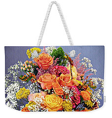 Weekender Tote Bag featuring the photograph Holy Week Flowers 2017 by Sarah Loft