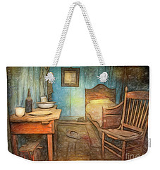 Weekender Tote Bag featuring the photograph Homage To Van Gogh's Room by Craig J Satterlee