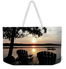 Home From A Paddle Weekender Tote Bag