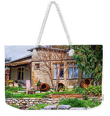 Weekender Tote Bag featuring the photograph Home In Greece by Roberta Byram