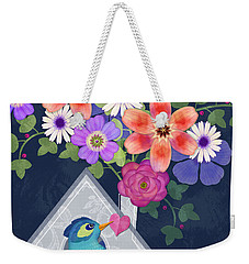 Home Is Where You Bloom Weekender Tote Bag