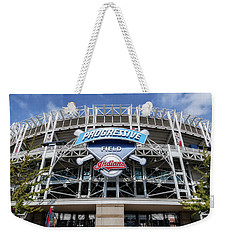 Weekender Tote Bag featuring the photograph Home Of The Clevaland Indians by Dale Kincaid