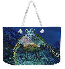 Weekender Tote Bag featuring the painting Home Of The Honu by Darice Machel McGuire