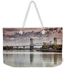Weekender Tote Bag featuring the photograph Cape Fear Crossing by Phil Mancuso