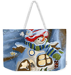 Weekender Tote Bag featuring the painting Home Sweet Home by Veronica Minozzi