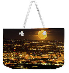 Home Sweet Hometown Bathed In The Glow Of The Super Moon  Weekender Tote Bag