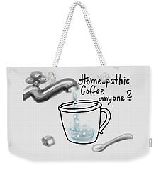 Homeopathic Coffee Weekender Tote Bag by Ivana Westin