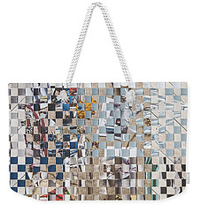 Weekender Tote Bag featuring the mixed media Homespun by Jan Bickerton