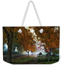 Hometown Fall Morning Weekender Tote Bag