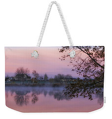 Weekender Tote Bag featuring the photograph Hometown Sunrise by Lynn Hopwood