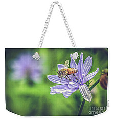 Honey Bee And Flower Weekender Tote Bag