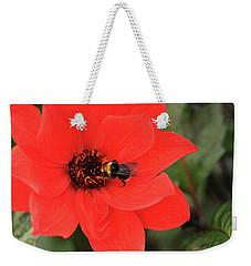 Honey Bee At Work Weekender Tote Bag by Haleh Mahbod