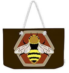 Honey Bee Graphic Weekender Tote Bag by MM Anderson