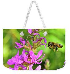 Honey Bee In Flight Weekender Tote Bag