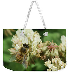 Weekender Tote Bag featuring the photograph Honey Bee by Pamela Walton