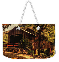 Honey Run Covered Bridge Weekender Tote Bag