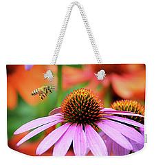 Honeybee Flying To A Coneflower Weekender Tote Bag