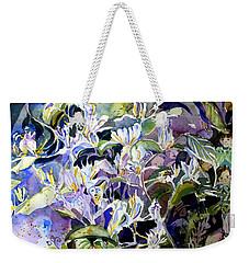 Honeysuckle Fairies Weekender Tote Bag by Mindy Newman