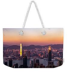 Hong Kong At Sunrise Stories From The Road Series 002 Weekender Tote Bag