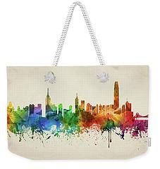 Hong Kong Skyline Chhk05 Weekender Tote Bag by Aged Pixel