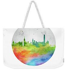 Hong Kong Skyline Chhk20 Weekender Tote Bag by Aged Pixel