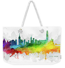 Hong Kong Skyline Mmr-chhk05 Weekender Tote Bag by Aged Pixel