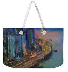Hong Kong Skyline Painting Weekender Tote Bag