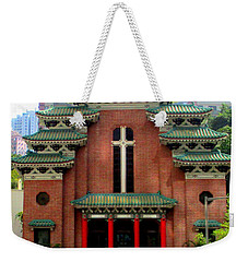 Weekender Tote Bag featuring the photograph Hong Kong Temple by Randall Weidner