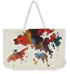 Hong Kong Watercolor Map Weekender Tote Bag
