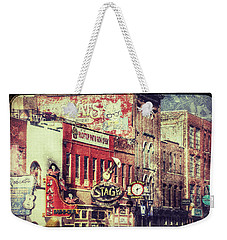 Honky Tonk Row - Nashville Weekender Tote Bag