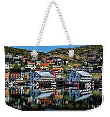 Honningsvag, Norway Weekender Tote Bag by Shirley Mangini