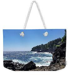 Weekender Tote Bag featuring the photograph Honokaa Sugar Cane Landing by Pamela Walton