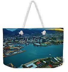 Honolulu Waterfront At Dawn Weekender Tote Bag